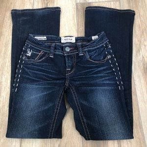 {MEK} Buckle Moscow Boot Cut Jeans